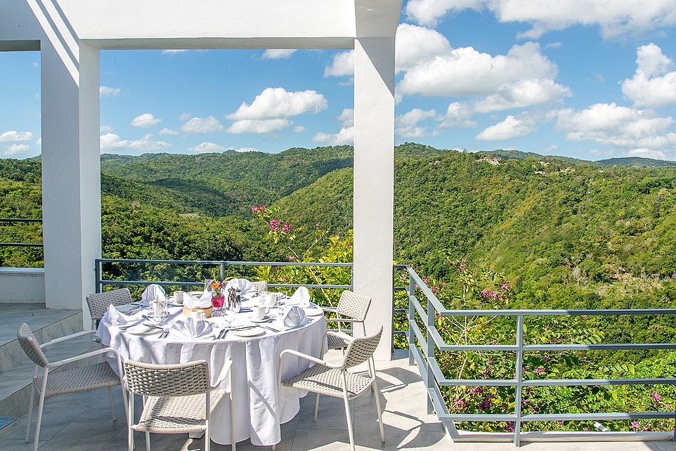 Breakfast with a view: Joshua and Co can feel united with nature while they drink their morning coffee in Montego Bay