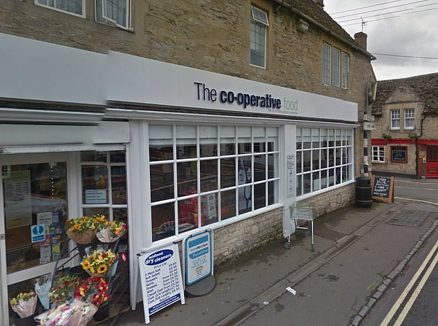 The incident took place inside a Co-Op inEynsham, Oxfordshire
