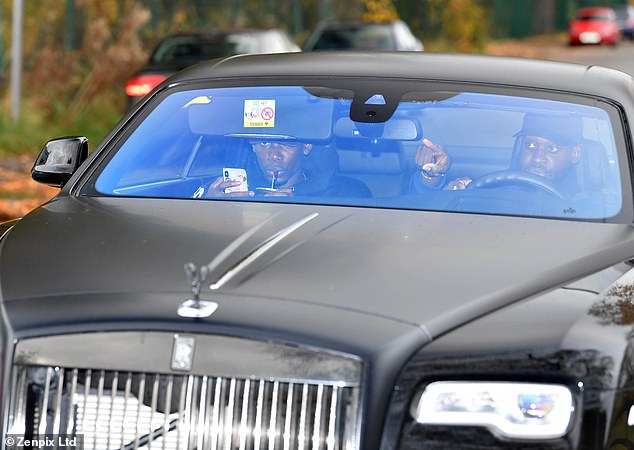 Paul Pogba arrived Saturday in a chauffeur driven Rolls Royce at the Carrington base of the club