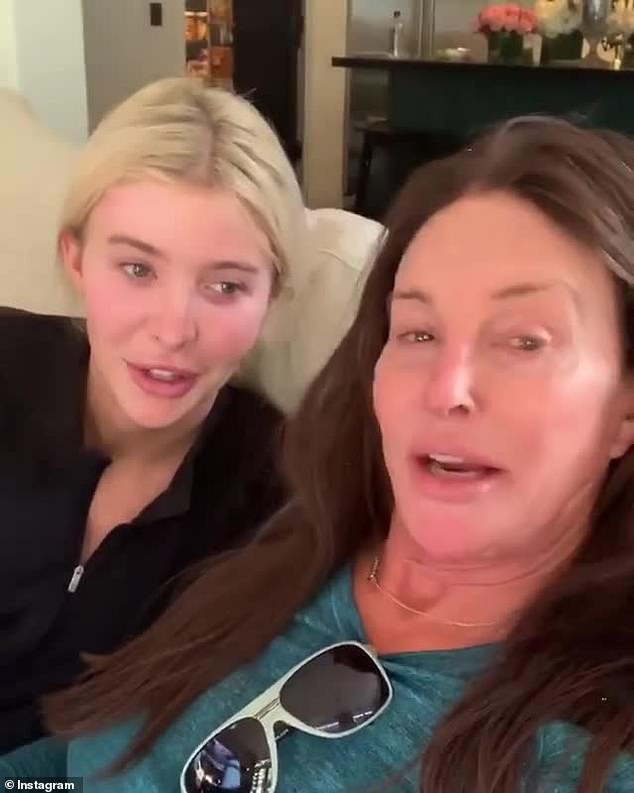 Sad day: Meanwhile, her former step parent Caitlyn Jenner thought her Malibu mansion burned to the ground but it did not. Here she is seen with her friend Sophia Hutchins