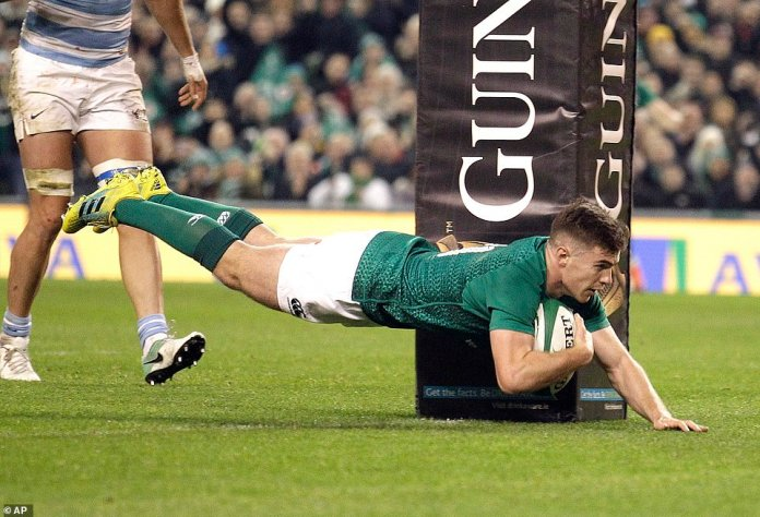 McGrath is trying to bring Ireland forward, but Argentina will be disappointed, as it was admitted