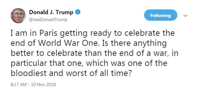 Trump misstated the facts of the war in the tweet. It was not the bloodiest of its kind. Among world wars, of which there have been two, the death toll for the Second World War, when the United States debuted the atomic bomb, was the highest