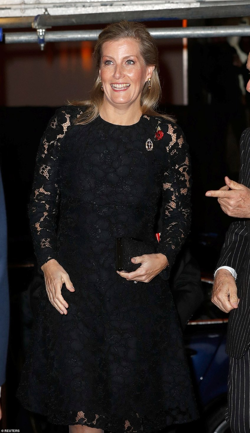 Britain's Sophie, Countess of Wessex attends the Royal British Legion Festival of Remembrance tonight in Albert Hall