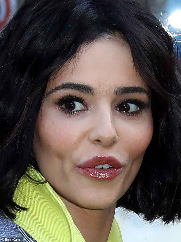 New look: Cheryl Cole shocked fans with her new look on Friday