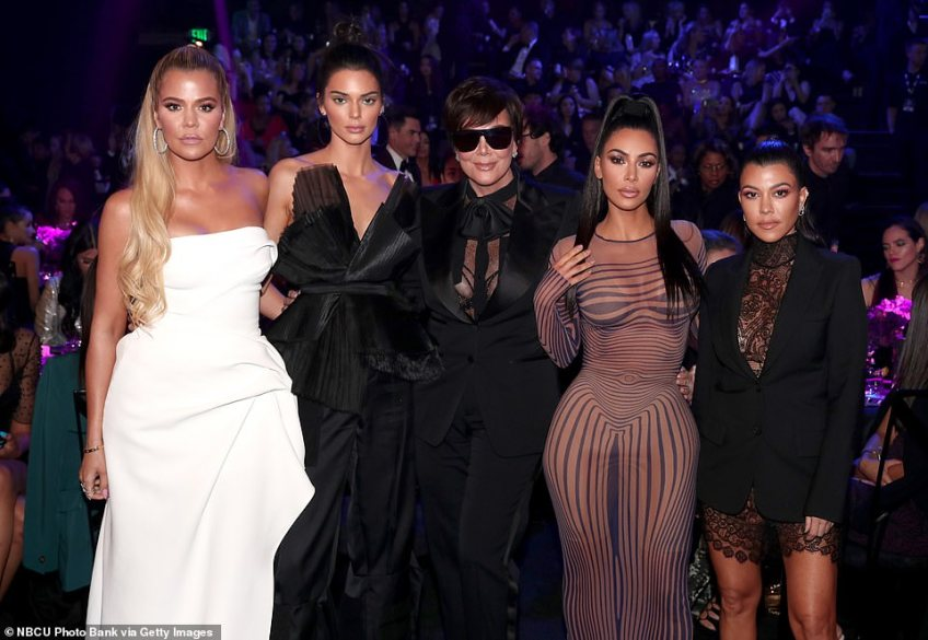 Winner: During the People's Choice Awards, Kim, Khloe, Kourtney, Kendall and Kris hit the stage to accept Reality Show Of 2018