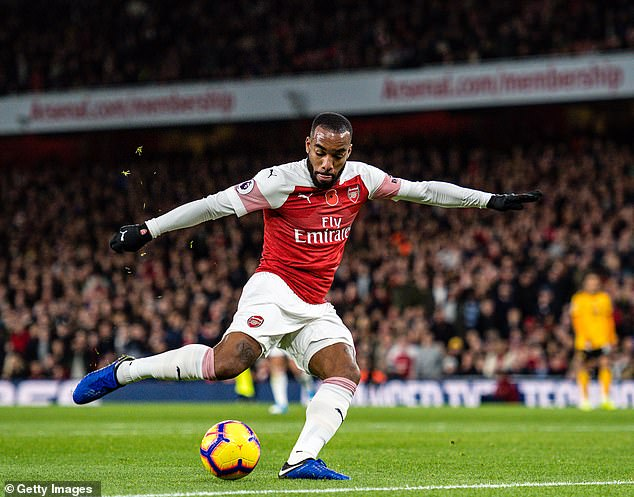 Alexandre Lacazette has been the preferred central striker at Arsenal for much of this season