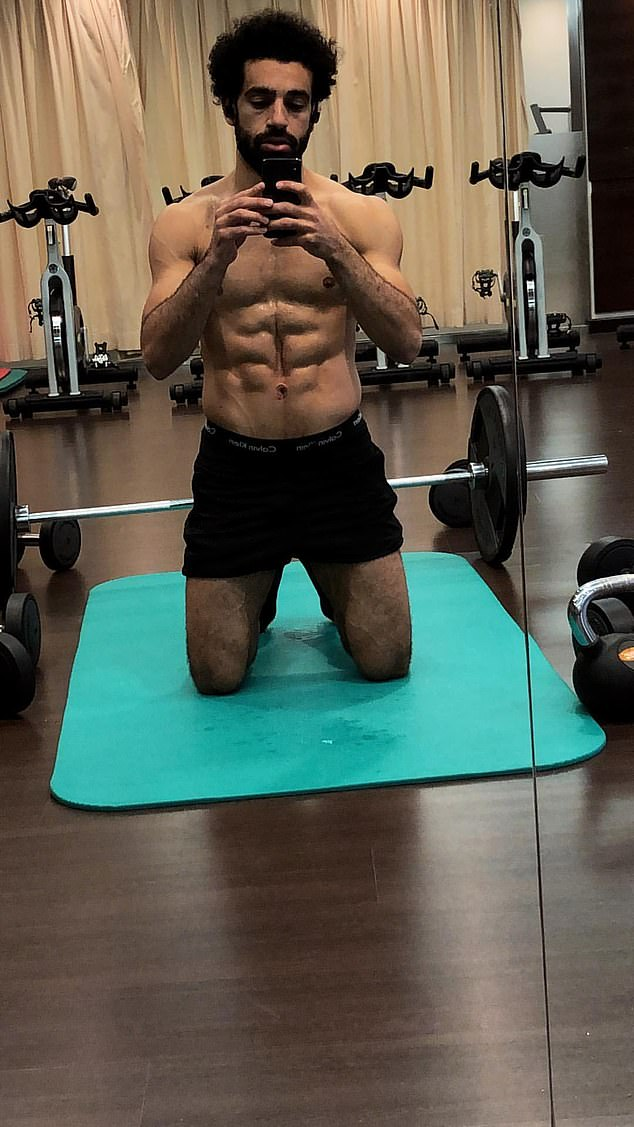 Mo Salah set pulses racing with a candid post-workout selfie on his Instagram story