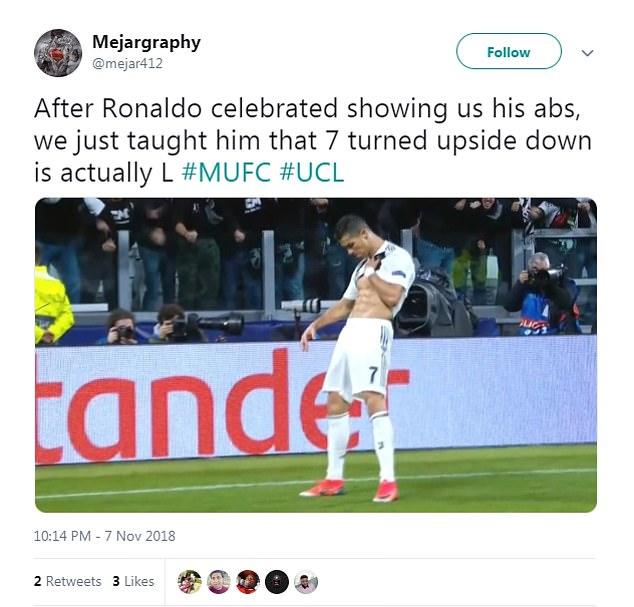 Salah's impressive physique was in the same league as Juventus star Cristiano Ronaldo