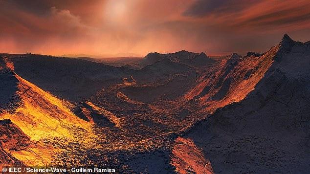 Se ha descubierto una 'súper Tierra' congelada orbitando la Estrella de Barnard, la estrella más cercana al Sol. A pesar de las temperaturas de la superficie de alrededor de -150 ° C (-238 ° F), los científicos creen que las bolsas de agua líquida podrían estar debajo del hielo, capaces de albergar vida (impresión del artista)
