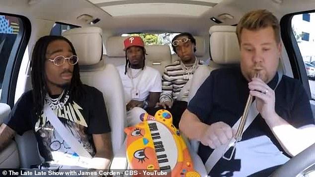 Migos Joins Carpool Karaoke With James Corden To Sing Neil Diamond