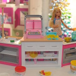 Barbie Kitchen Playset Chairs Wood Fury At Sexist Pink For That S Set To Become A The 49 99 Ultimate Includes An Oven Fryer And Fridge