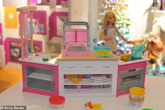 barbie kitchen playset pantry storage cabinet fury at sexist pink for that s set to become a the 49 99 ultimate includes an oven fryer and fridge