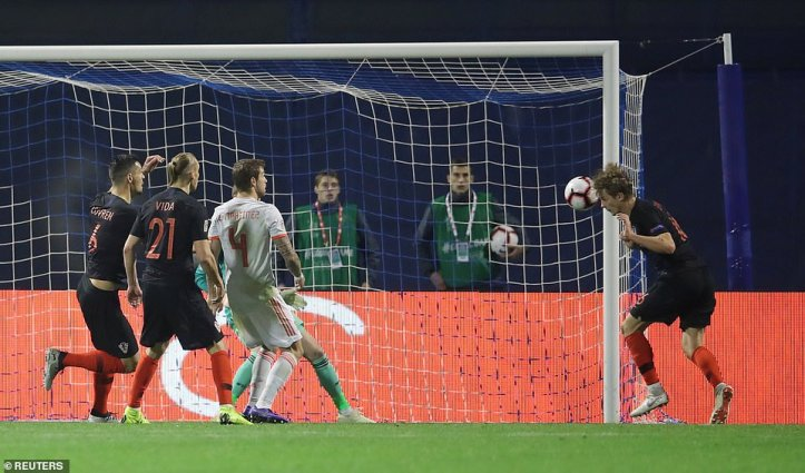 Jedvaj hadn't scored a goal for his national side before the match but managed to score a brace against Spain on Thursday