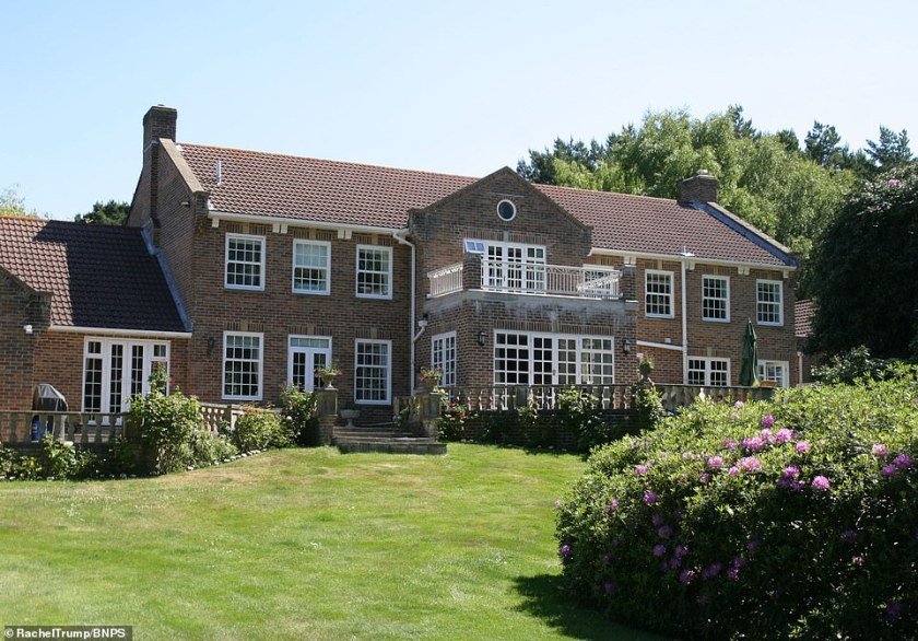 The former mansion before its demolition, planning permission meant developers could replace the home with more modern, luxurious homes called Optimia, Oseletta and Ortega