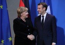 Merkel And Macron To Visit Airbus As Us Sanctions Loom