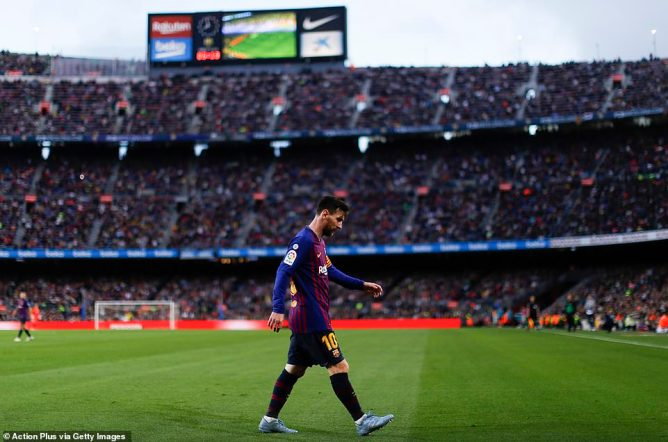 Lionel Messi remains king of Barcelona, adored by 100,000 fans at the Nou Camp every game and millions more worldwide