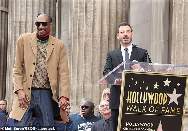 What's my name: Snoop star is just in front of the El Capitan Entertainment Center, where Jimmy Kimmel Live! is taped