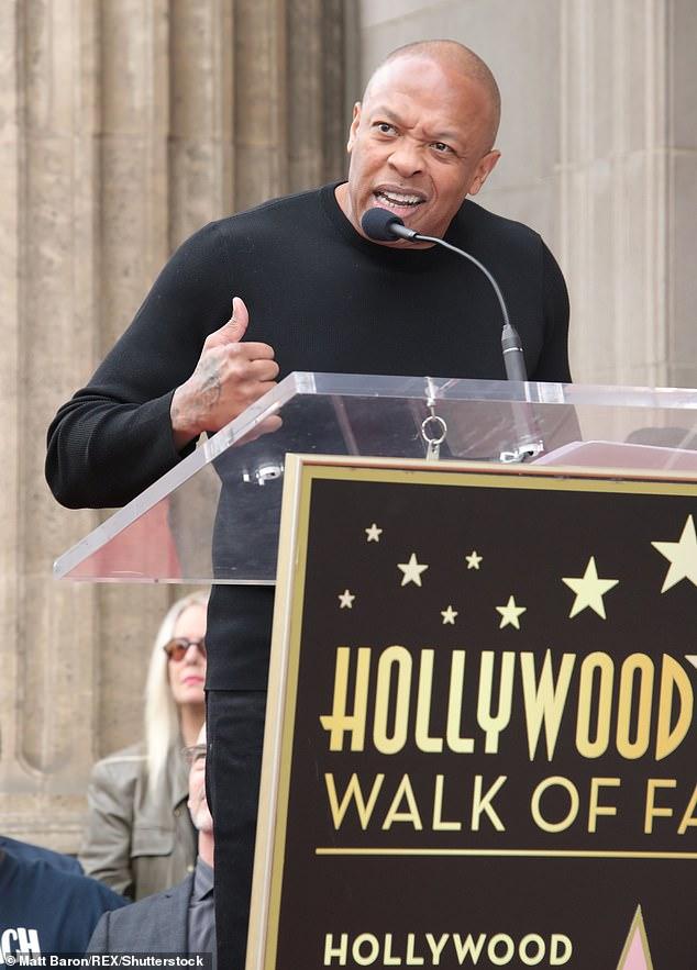 Still D.R.E.: Also in attendance were Snoop's longtime friends Dr. Dre, Quincy Jones, Pharrell Williams, and Warren G