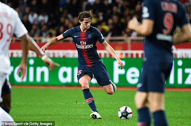 Rabiot, pictured in action against Monaco this month, will become a free agent next summer