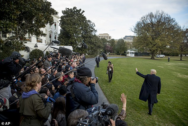 That's all folks: Trump spoke before he got on Marine One to begin his journey to Mar-a-Lago