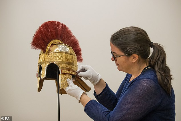 One replica helmet will go on permanent display at Birmingham Museum and Art Gallery, and the other at the Potteries Museum and Art Gallery in Stoke-on-Trent