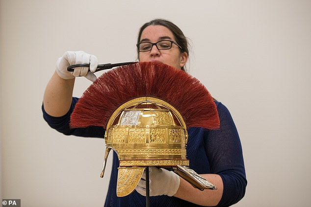 They will now go on public display from November 23. Weighing in at three kilograms each, the helmets are made out of steel, leather, gold, and silver plated bronze and copper