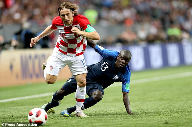 N & # 39; Golo Kante played a key role as France won the World Cup against Croatia by Luka Modric (Owen Humphreys / PA)