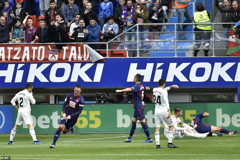 Kike Garcia piled on the misery for Real Madrid and secured the three points by adding a third goal in the second half
