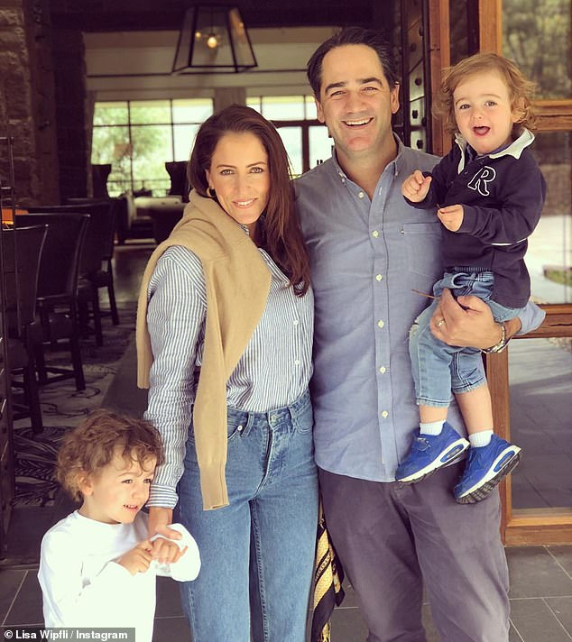 'It's all about balance': Michael and Lisa Wipfli, revealed how their parenting skills have ensured kids, Ted, 3, and Jack, 2, (all pictured) have a healthy relationship with food