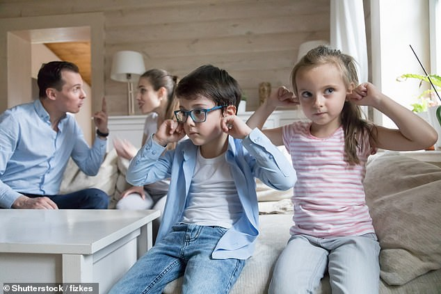 Parents with a stiff upper lip who refuse to talk openly about their emotions with their children could be damaging their offspring, scientists have discovered. Children have a better relationship with their parents if the adults show when they are stressed or angry (stock)