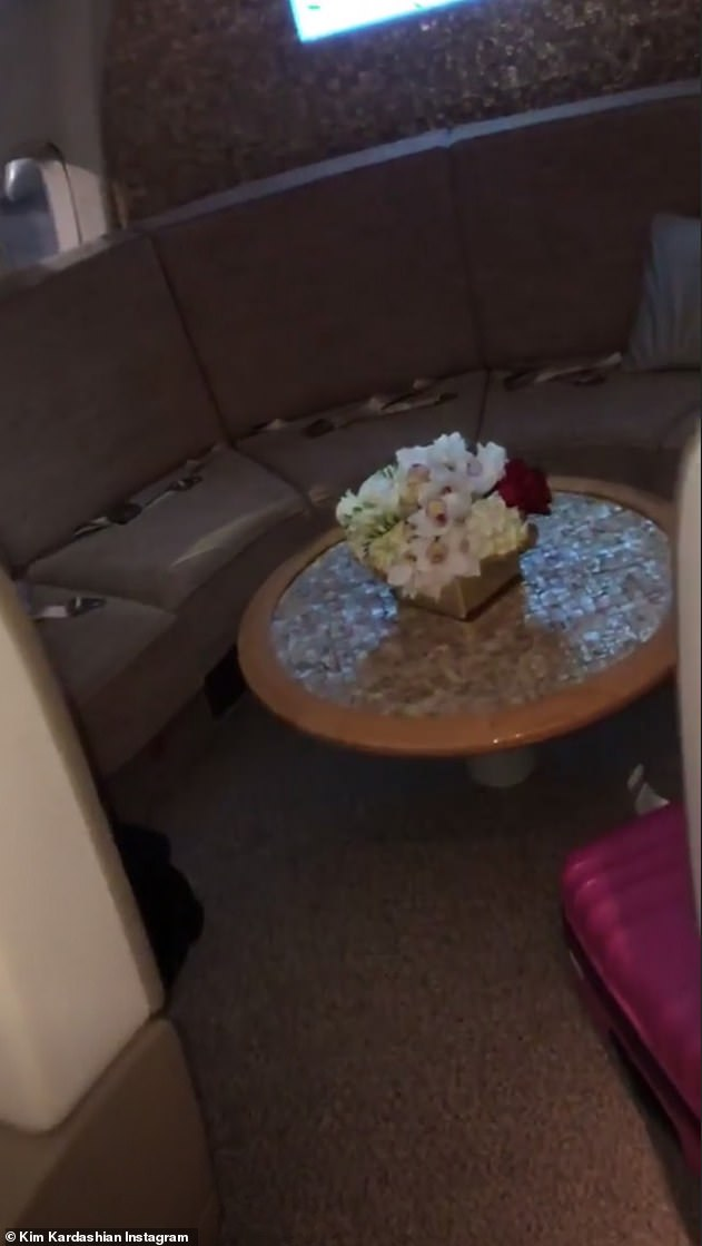 Not your usual seat: Seatbelts are the only indication that this lounge area leaves the ground