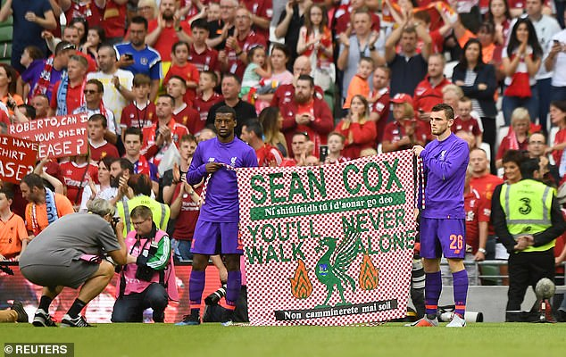 Liverpool has to play a special Legends match at the Aviva Stadium in Dublin in favor of Sean Cox