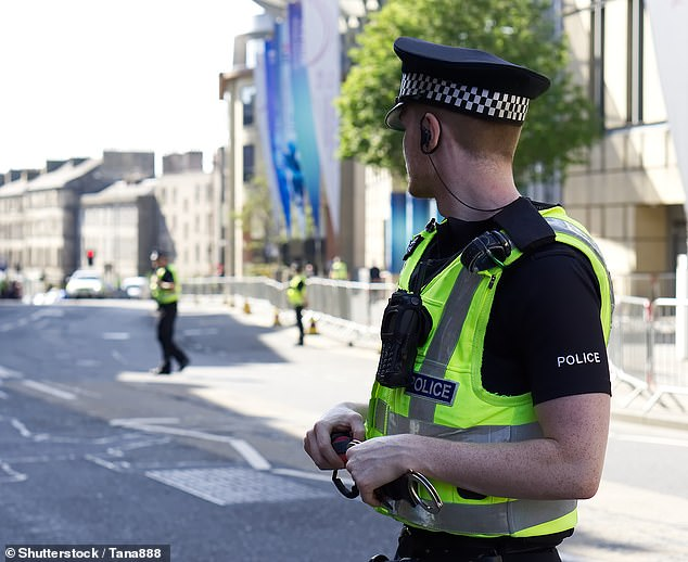 Police in the UK could soon thwart violent crimes before they even happen. This is the aim of a Minority Report-style CCTV surveillance system that is set to use AI to predict whether an individual might be about to commit a crime (stock image)