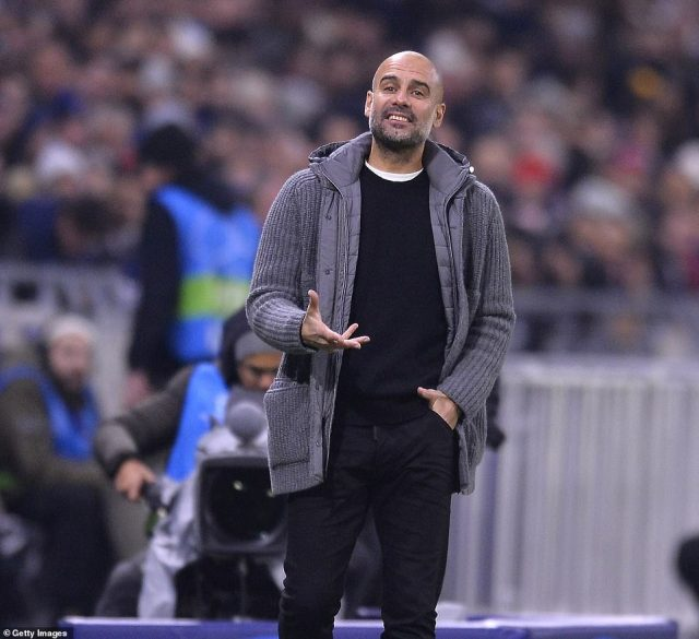 Pep Guardiola, who has been used to having things his own way at City, endured a tough night at the office on Tuesday