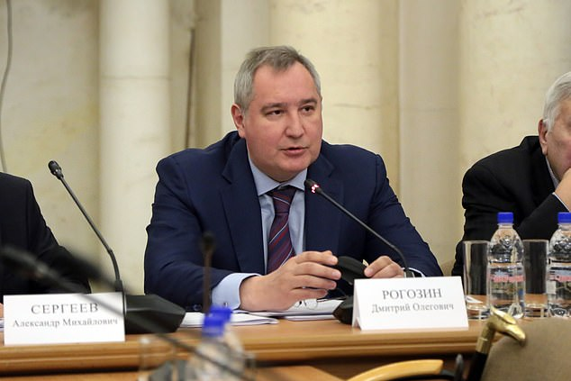The announcement was made at a joint meeting of the Moscow-based Scientific and Technical Council of Roscosmos and the Space Council of the Russian Academy of Sciences. Pictured is Dmitry Rogozin, Director General of the Roscosmos State Corporation at the conference