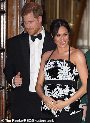 Gina said that Meghan (right) will be a 'lovely mummy' and her nurturing nature was why Harry (left) married her