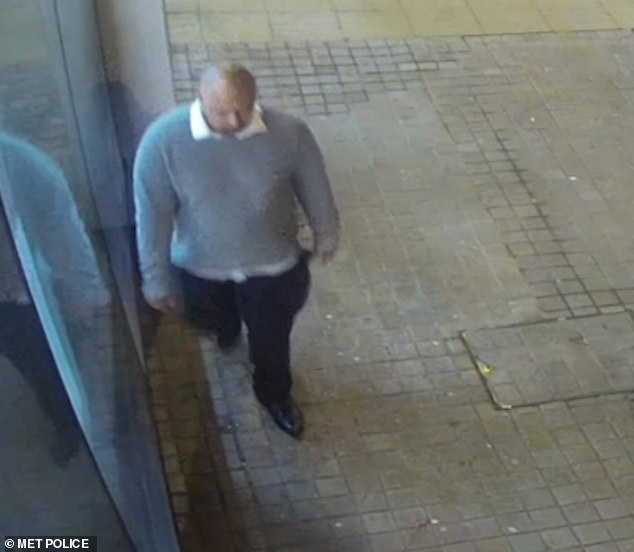 A still from CCTV footage showing the police's suspect after the rape