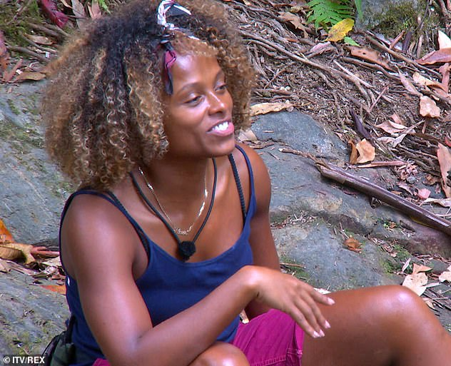 Spilling the beans: Fleur East admitted that she would kiss Nick Knowles during a girly gossip with Emily Atack and Sair Khan on Monday night's episode of I'm A Celebrity