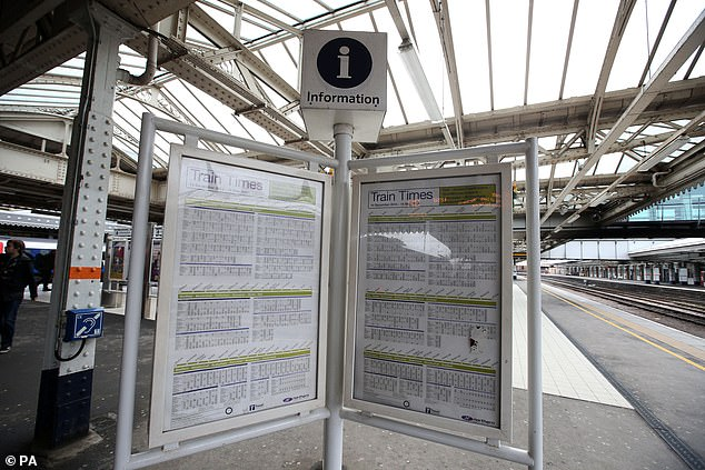 The cross-party committee also blamed the ¿fragmented¿ nature of the industry for the disruption. In Britain¿s ¿astonishing¿ complex system, private companies compete on rail infrastructure which is owned and run by the state, it said [File photo]