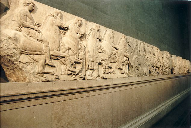 The marbles were removed from the ruins of the Parthenon temple in Athens and shipped to England between 1801 and 1805