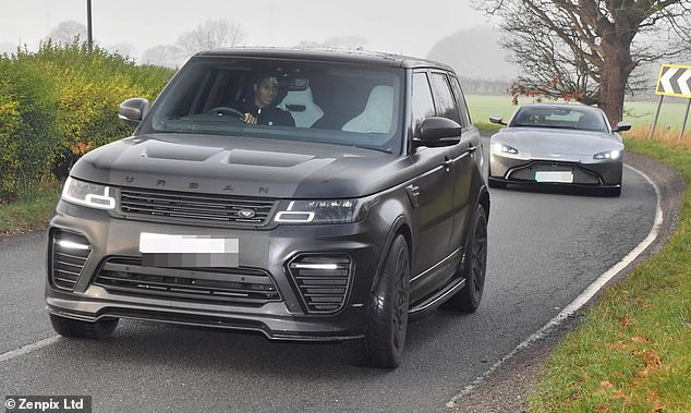 Marcus Rashford, who has endured an inconsistent season, arrives in his Range Rover