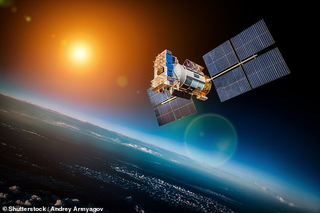 These satellites (stock image) are believed to be weaponised and could pose a serious threat to the orbital operations of other countries