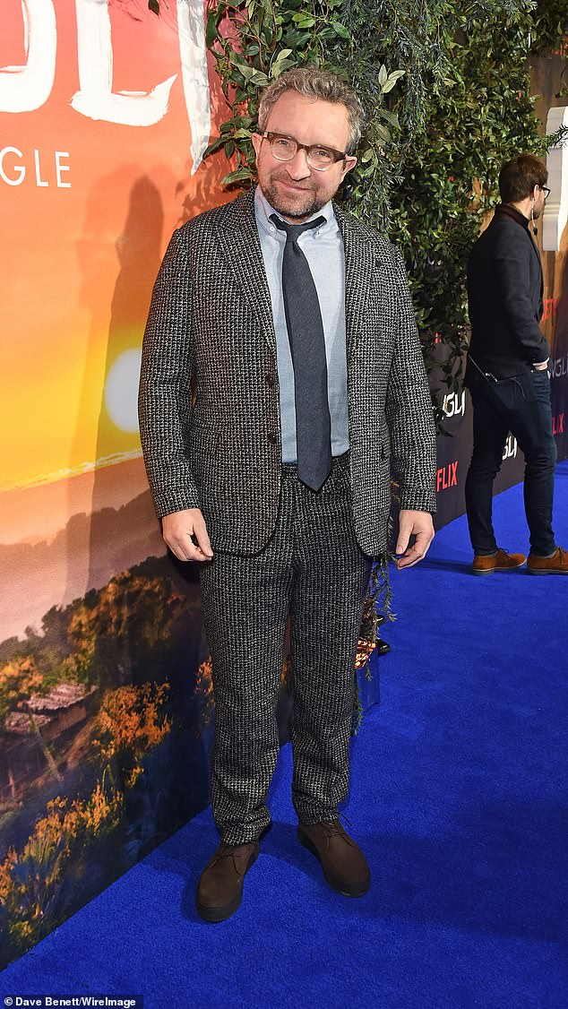Eddie Marsan was also at the event and looked great in a marl grey suit