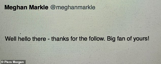 Within minutes of me following her on Twitter, she sent me this Direct Message - and we started corresponding on a regular basis for the next year