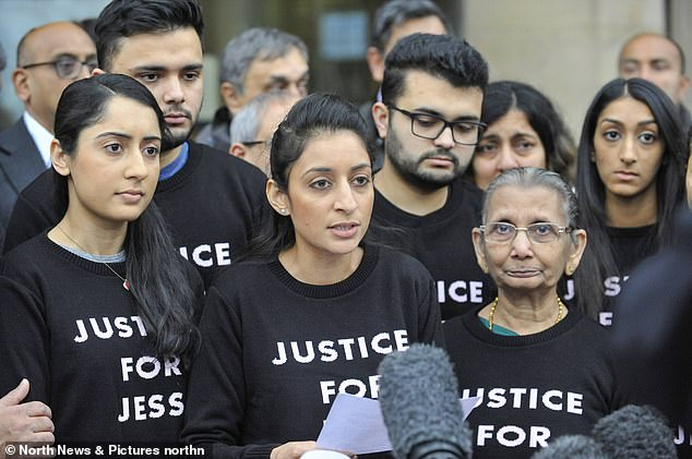 The family of murdered Jessica Patel said her killer husband would 'rot in hell' today