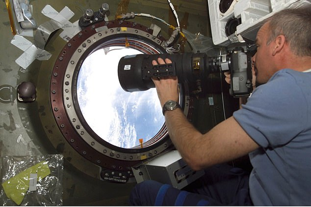 From the space assets at risk from the capsule's outgassing is the U.S. Laboratory Science Window, a porthole for astronauts and instruments. Pictured, Jeff Williams, Expedition 13 Science Officer, at the U.S. Laboratory Science Window on the ISS.