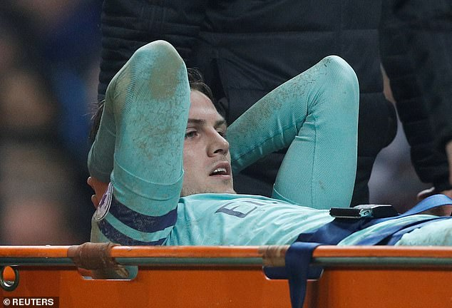Arsenal defender Rob Holding suffered an injury to the cruciate ligament at the end of the season