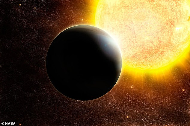 The exoplanet is 124 light years from Earth and what is discovered by researchers at the University of Geneva, Switzerland (stock, artist's impression)