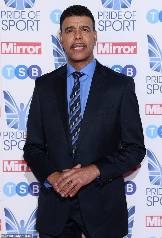 Chris Kamara is present at the Pride of Sport Awards at the Grosvenor House in London