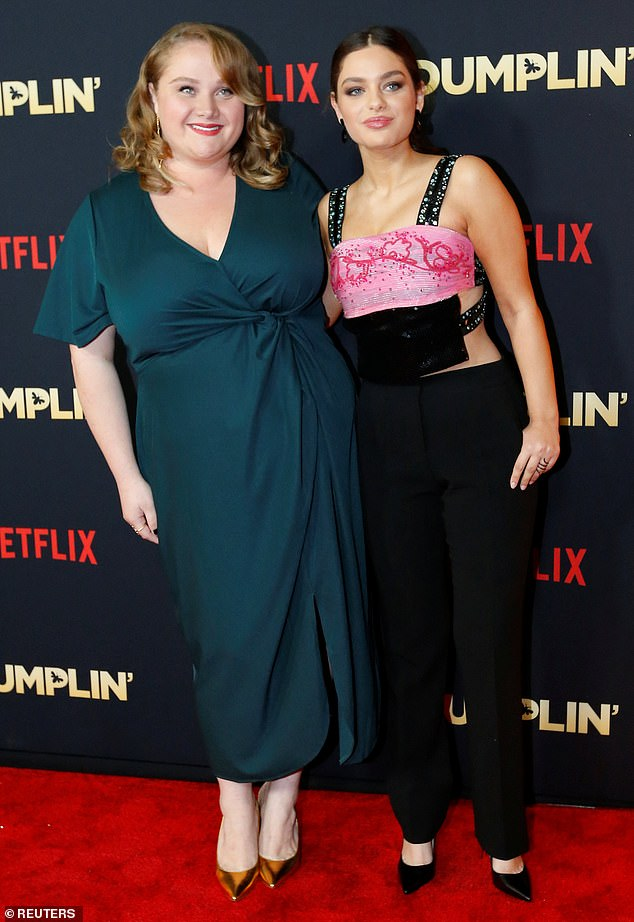 Friends from set: Cast members Danielle MacDonald and Odeya Rush looked close on the red carpet